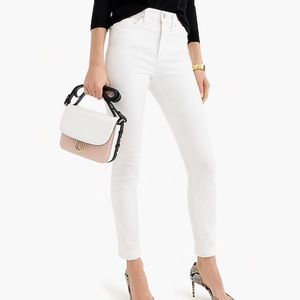 J crew white high rise skinny toothpick jeans